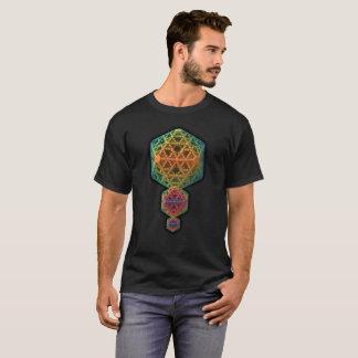 Verwickeltes und buntes 3-D Fraktal Design T-Shirt