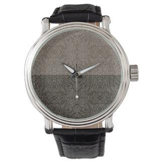 Verwickeltes Vintages Leder Uhr