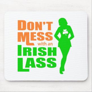 Verwirren Sie nicht mit einem irischen lustigen Mauspads