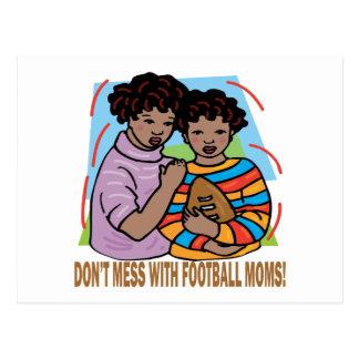 Verwirren Sie nicht mit Fußball-Mammen Postkarte
