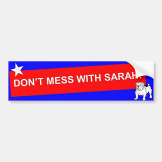 VERWIRREN SIE NICHT MIT SARAH! - Besonders Autoaufkleber
