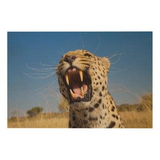 Verwirrender Leopard Holzwanddeko