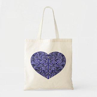 Verwirrte blaue Herz-Taschen-Tasche Tragetasche