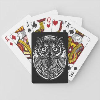 Verwirrte Eulen-klassische Spielkarten