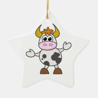Verwirrte Kuh Keramik Ornament