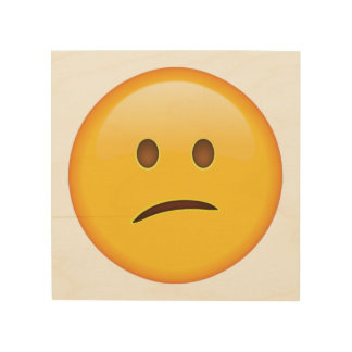 Verwirrtes Gesicht - Emoji Holzleinwand