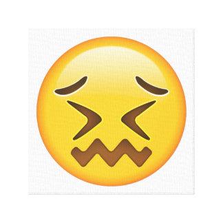 Verwirrtes Gesicht - Emoji Leinwanddruck