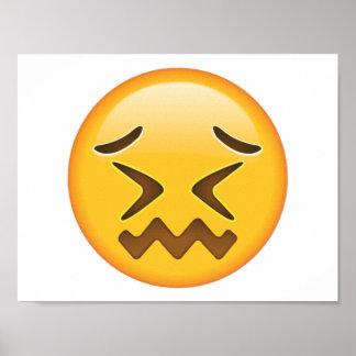 Verwirrtes Gesicht - Emoji Poster
