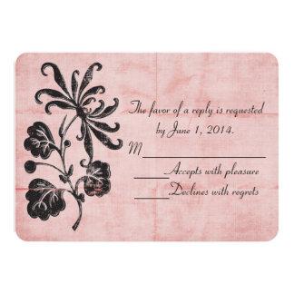 Verwirrtes rosa UAWG 11,4 X 15,9 Cm Einladungskarte