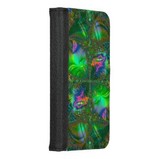 Verwirrtes Schicksals-psychedelisches Fraktal iPhone 8/7 Geldbeutel-Hülle