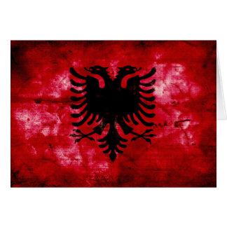 Verwitterte Albanien-Flagge Karten