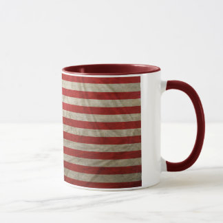 Verwitterte amerikanische Flagge Tasse
