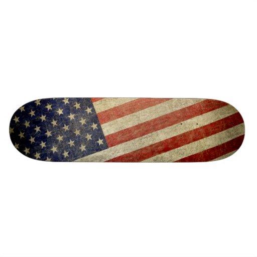 Verwitterte, beunruhigte amerikanische Flagge Individuelle Skateboards