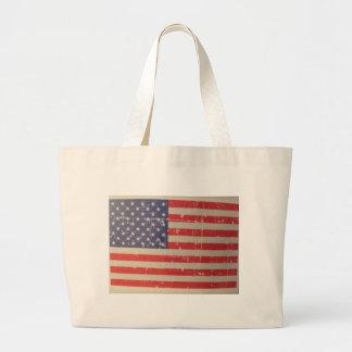 Verwitterte, beunruhigte amerikanische USA-Flagge Jumbo Stoffbeutel