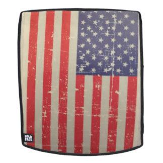 Verwitterte, beunruhigte amerikanische USA-Flagge Rucksack