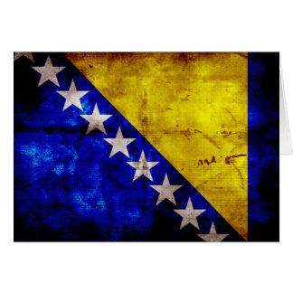 Verwitterte Bosnien-Flagge Mitteilungskarte
