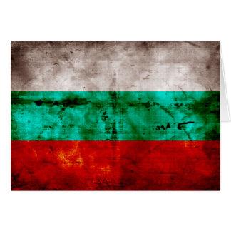 Verwitterte Bulgarien-Flagge Mitteilungskarte