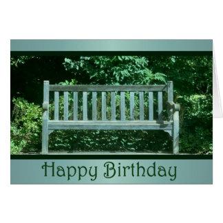 Verwitterte Park-Bank-Geburtstags-Karte Karte