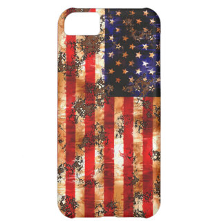 Verwitterte rostige amerikanische Flagge iPhone 5C Hülle