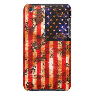 Verwitterte rostige amerikanische Flagge iPod Touch Case-Mate Hülle