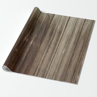 Verwitterte rustikale Scheunen-Holz-Bretter Geschenkpapier