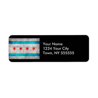 Verwitterte Vintage Chicago-Staats-Flagge