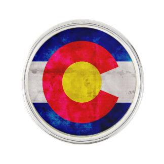 Verwitterte Vintage Colorado-Staats-Flagge Anstecknadel