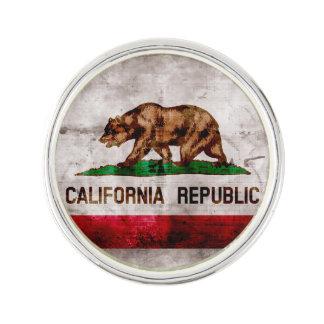 Verwitterte Vintage Kalifornien-Staats-Flagge Anstecknadel