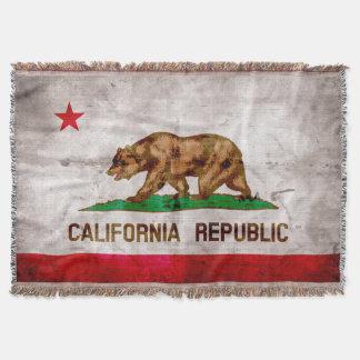 Verwitterte Vintage Kalifornien-Staats-Flagge Decke