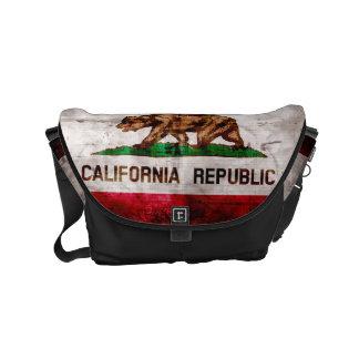 Verwitterte Vintage Kalifornien-Staats-Flagge Kurier Taschen