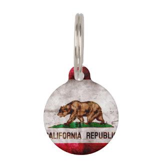Verwitterte Vintage Kalifornien-Staats-Flagge Tiermarke