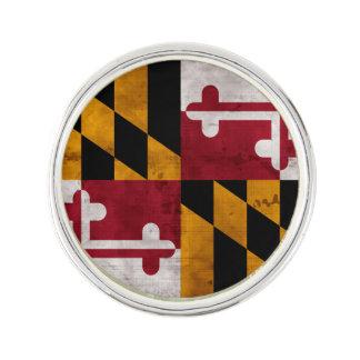 Verwitterte Vintage Maryland-Staats-Flagge Anstecknadel
