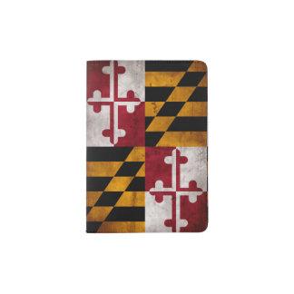 Verwitterte Vintage Maryland-Staats-Flagge Passhülle