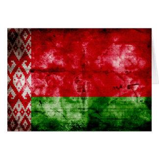 Verwitterte Weißrussland-Flagge Mitteilungskarte
