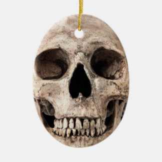 Verwitterter alter Schädel Keramik Ornament