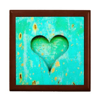 Verwittertes blaue Schalen-Farben-hölzernes Geschenkbox