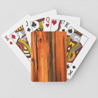 verwittertes Scheunenbrett Spielkarten
