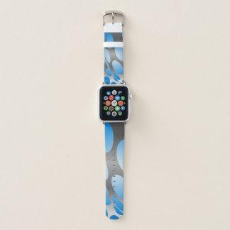 Verworfene blaue Punkte auf Silber Apple Watch Armband