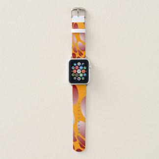 Verworfene rote Punkte auf Gold Apple Watch Armband