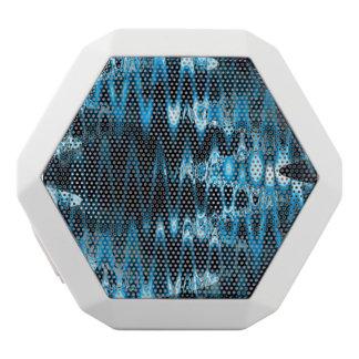 Verworfenes Glas (blau) Weiße Bluetooth Lautsprecher