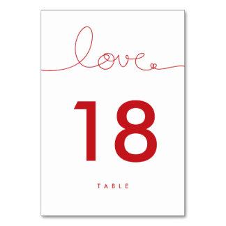Verworrenes Liebe-rotes Herz-Wedding Karte
