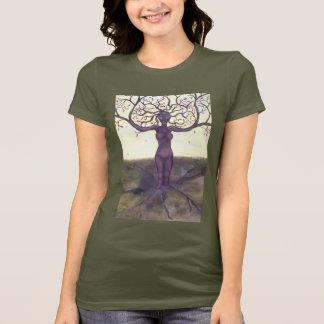 """""""Verwurzelte"""" Baum-Göttin-Kunst T-Shirt"""