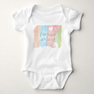 Verzauberte Regenbogen- und Einhorn-Märchen Baby Strampler
