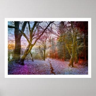 Verzauberte Waldwinter-Landschaft Plakatdruck