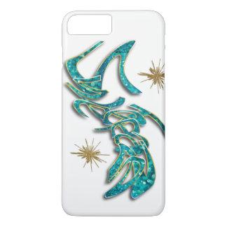 Verzauberter aquamariner GoldGlitter iphone Fall iPhone 8 Plus/7 Plus Hülle