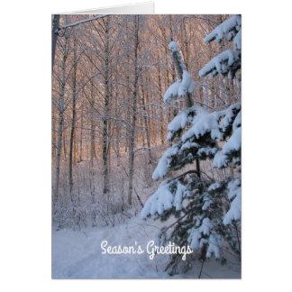 Verzauberung eines Winter-Tages Karte