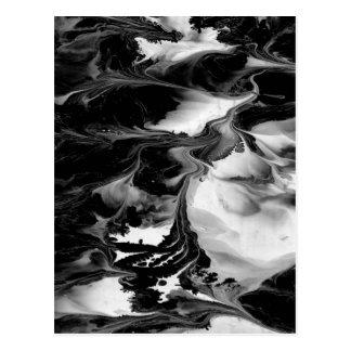 VERZAUBERUNG (schwarze u. weiße abstrakte Kunst) ~ Postkarte