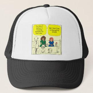 Verzeihen 286 im Kirchen-Cartoon Truckerkappe