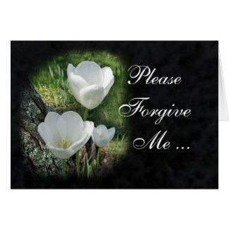 Verzeihen Sie mir bitte: Weiße Tulpe-Blume Karte