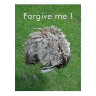 Verzeihen Sie mir Postkarte